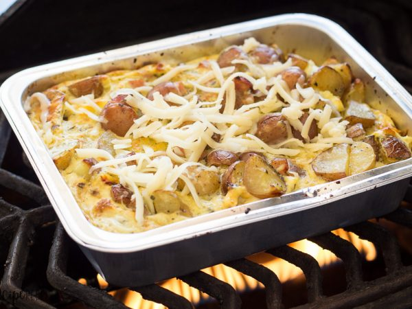 No Dishes Grilled Breakfast Casserole