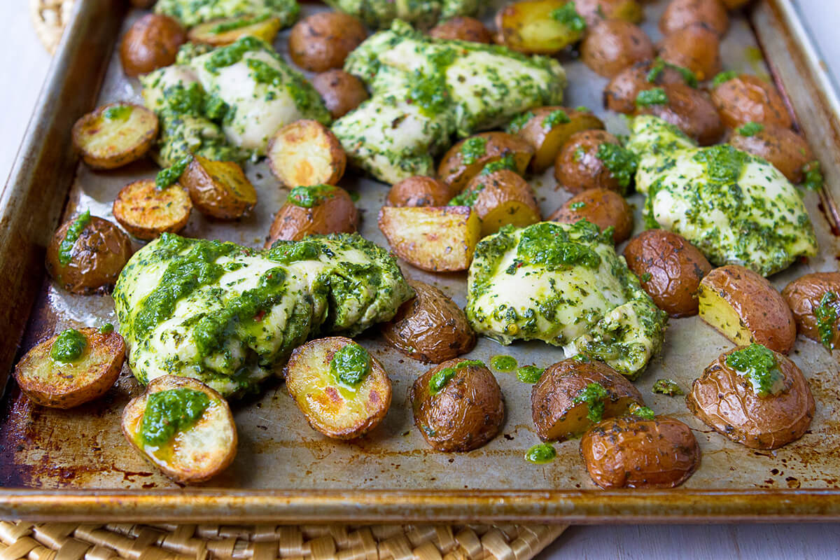 Chimichurri Roasted Potato & Chicken