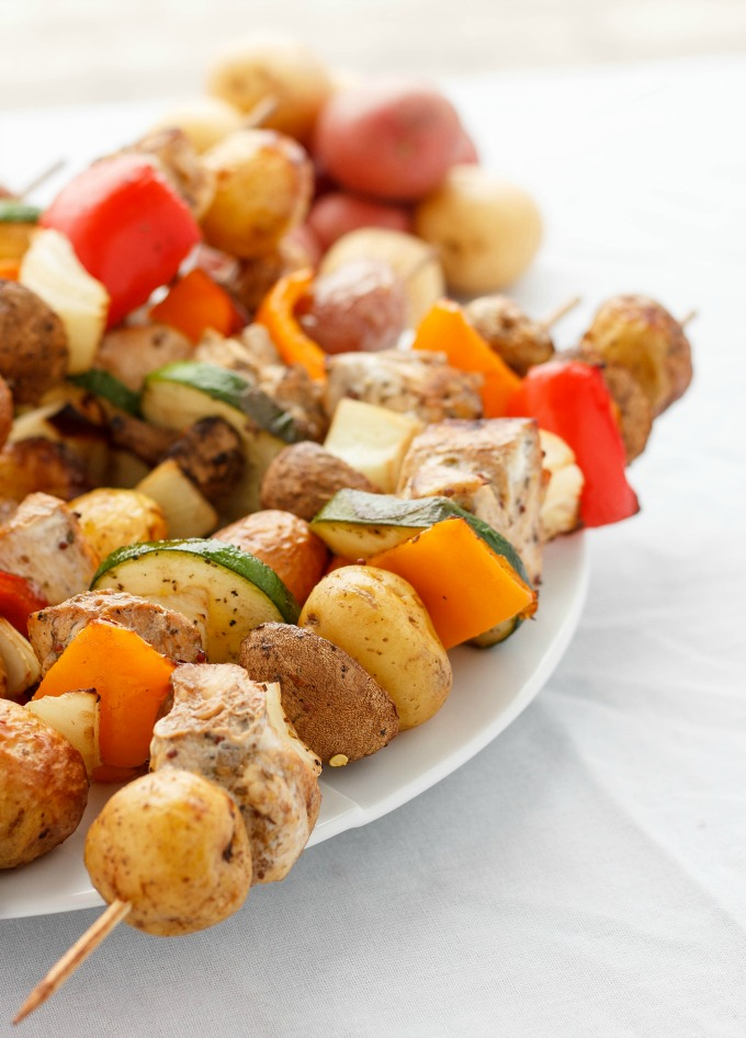 Potato Shish Kebabs in the Oven