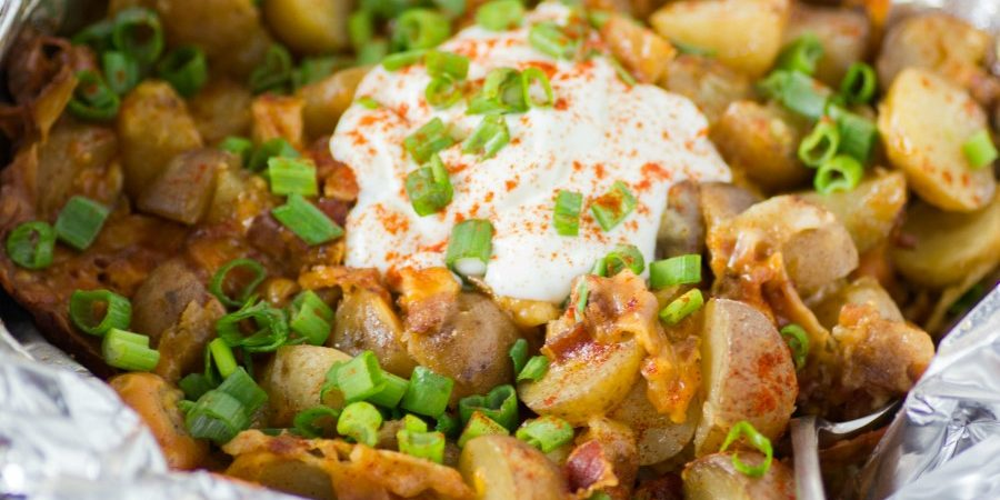 Slow Cooker Bacon Cheese Ranch Potatoes