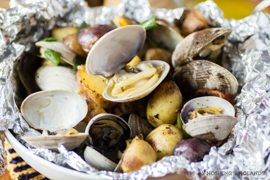 Clam, Bacon, and Potato Foil Packs