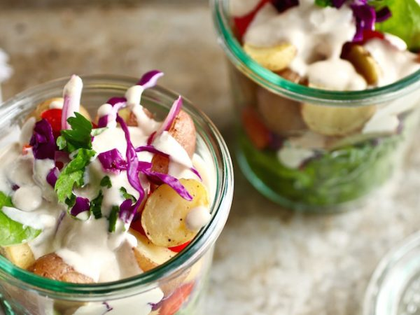 Summer Salad Jars with Veggies - The Little Potato Company