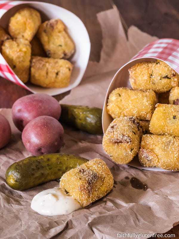 Fried Potato Pickle Pops
