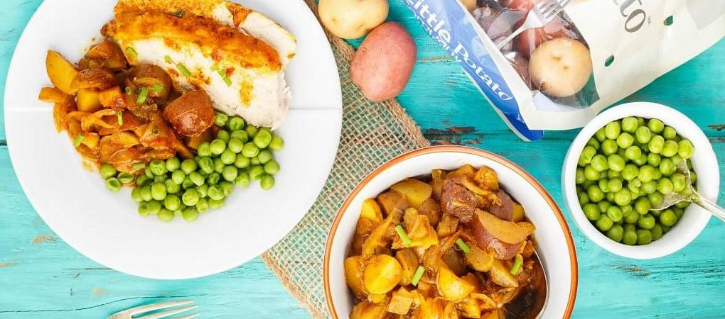 Slow Cooker Curry Whole Chicken with Creamer Potatoes