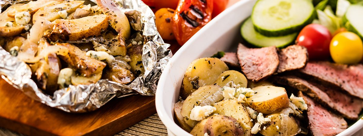 Grill Roasted Potatoes in Foil