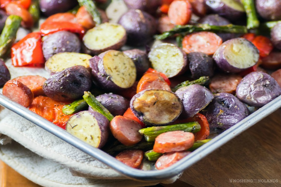 Roasted Sheet Pan Potatoes and Sausage