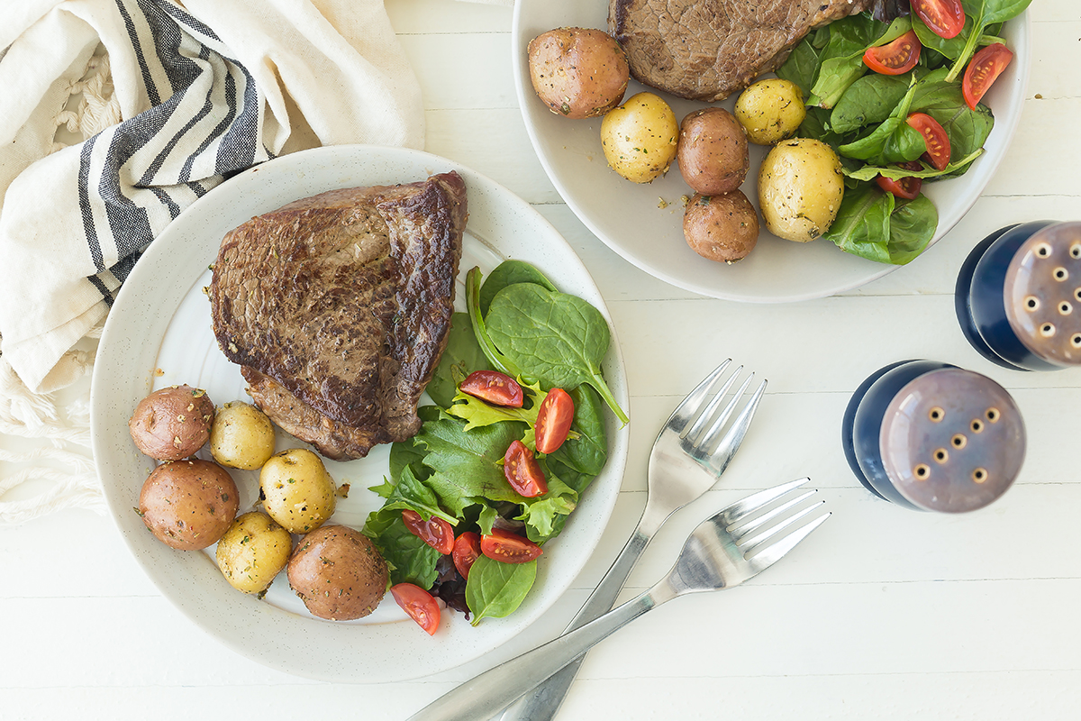 Steak and Potatoes in 20 Minutes