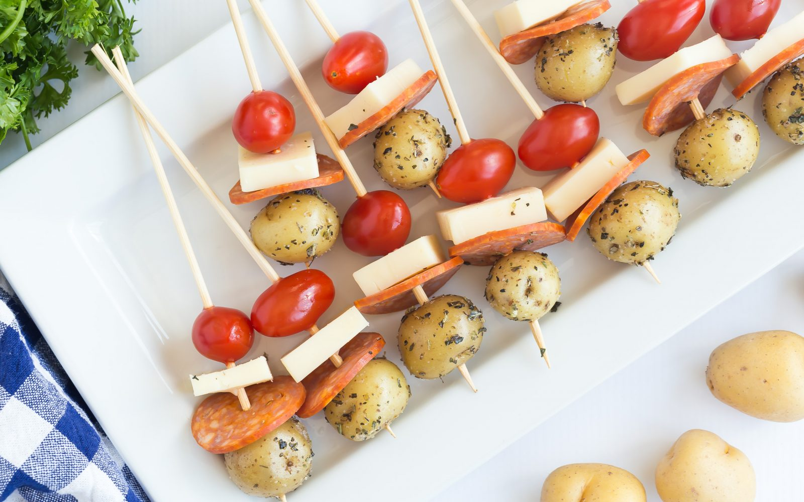 Potato Pizza Skewers