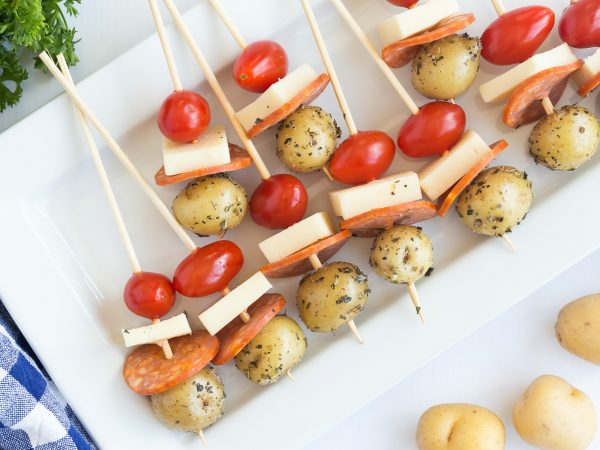 Potato Pizza Skewers - The Little Potato Company