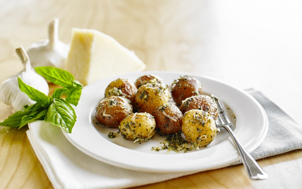 Pesto Parmesan Potatoes - The Little Potato Company