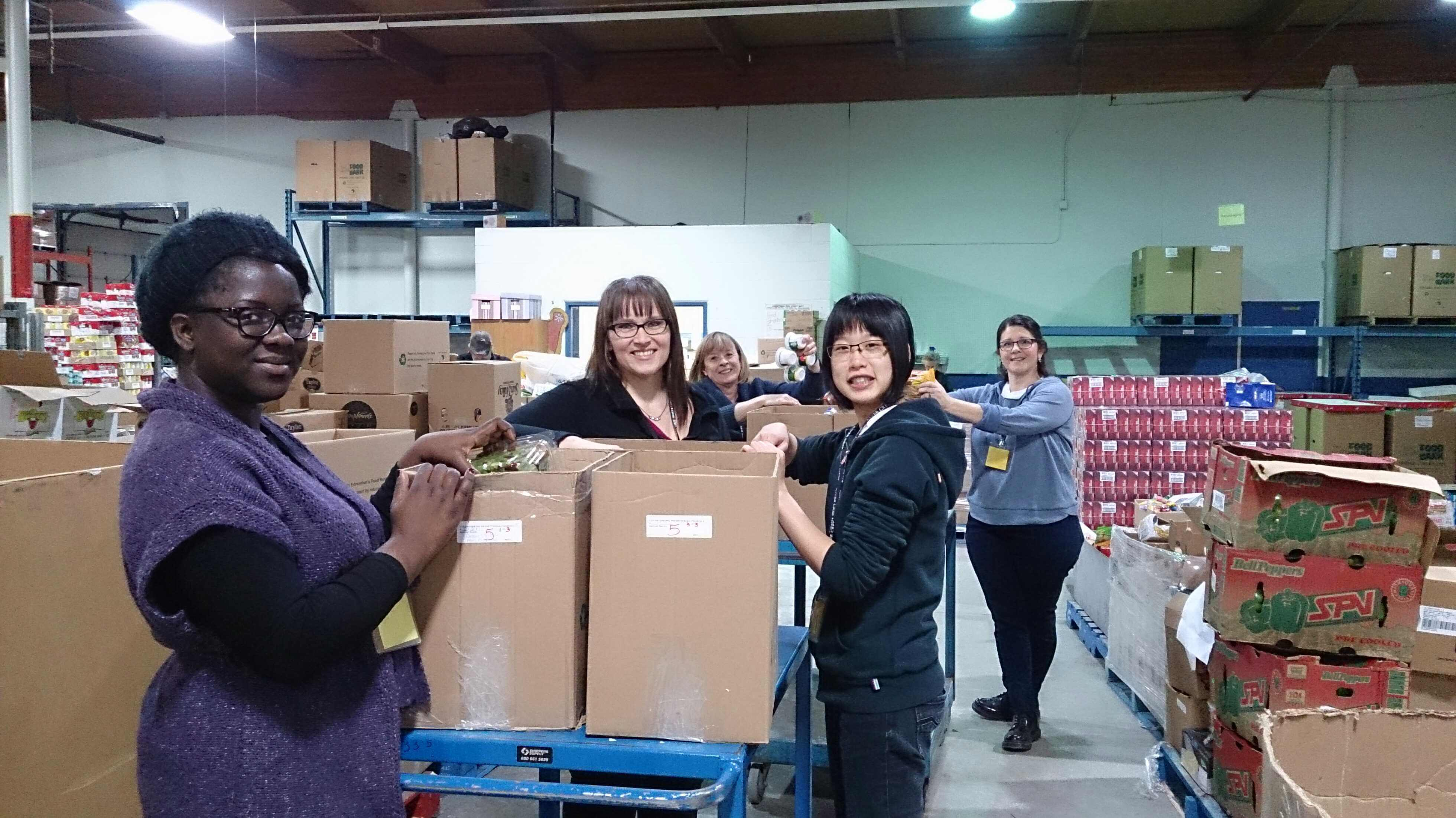 Edmonton Food Bank Volunteering January 2015