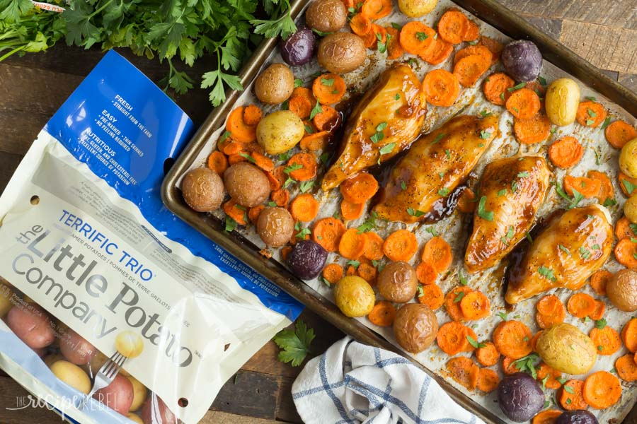 Apricot Chicken Sheet Pan Dinner