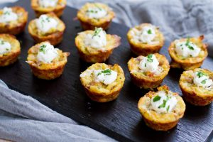 Baked Mashed Potato Bites