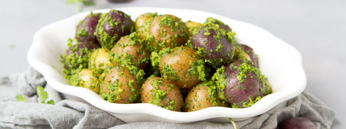 Boiled Cilantro Lime Potatoes