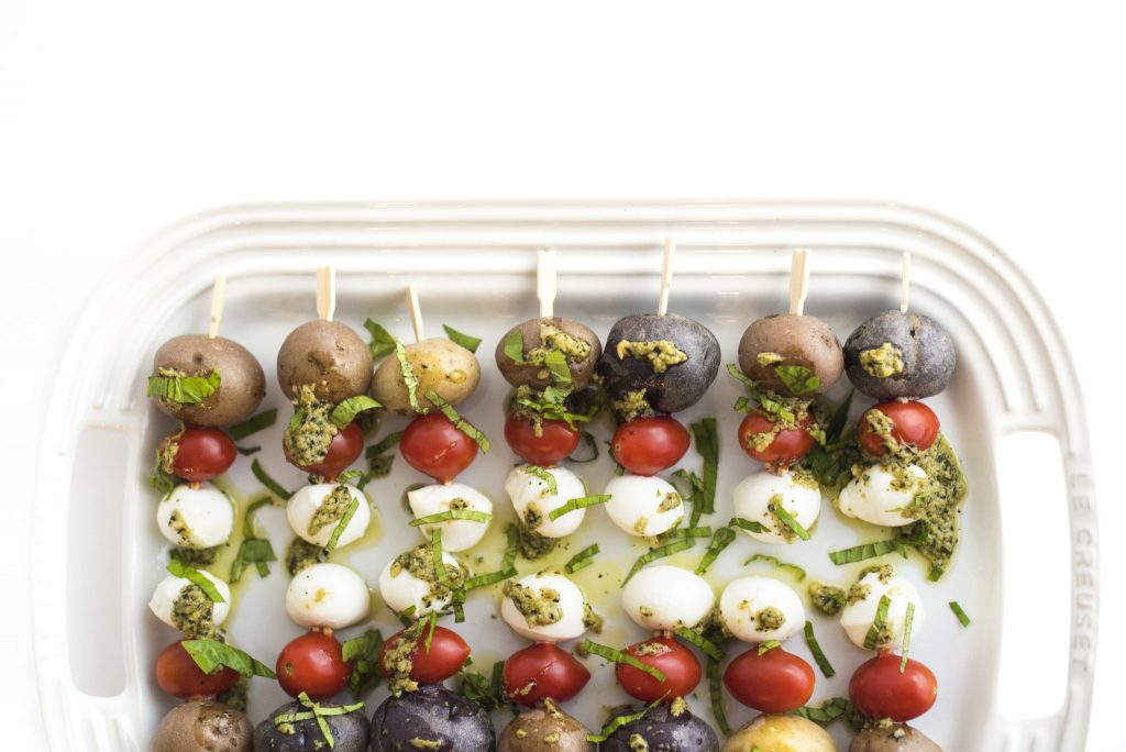 Caprese Potato Skewers - The Little Potato Company