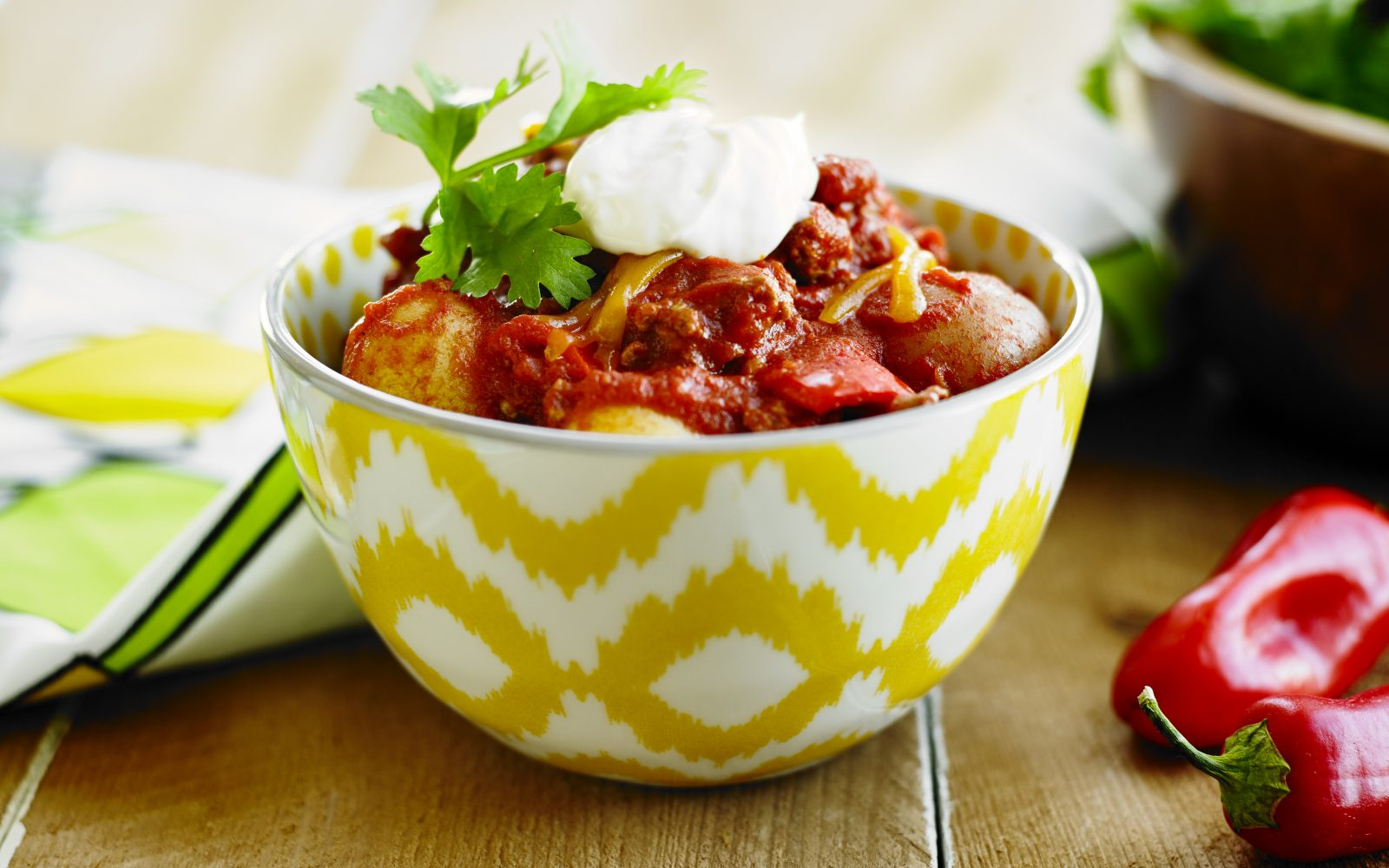 Macho Sombrero Chili Con Carne with Potatoes