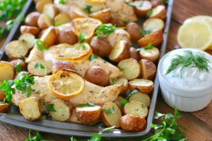 Greek Lemon Chicken with Little Potatoes