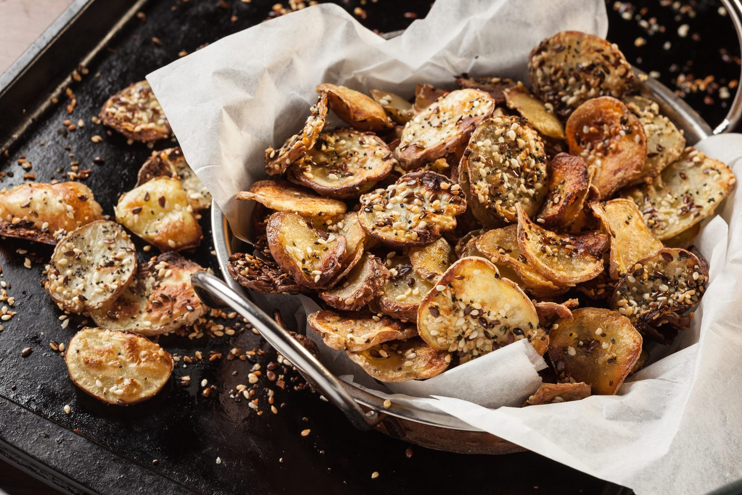 Homemade Potato Chips with Seeds