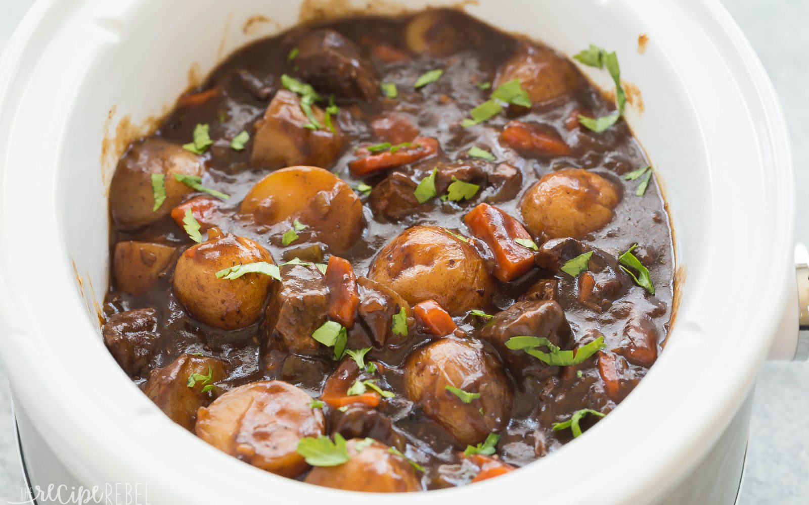 Honey Balsamic Slow Cooker Beef Stew The Little Potato Company