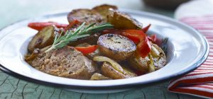 Potatoes, sausages and peppers recipe