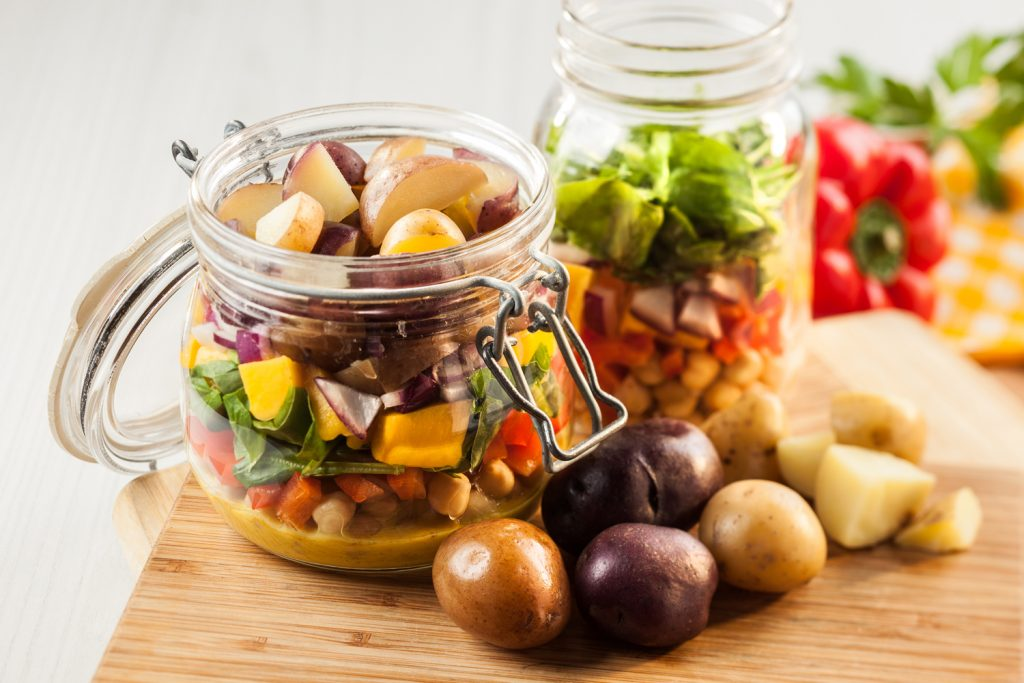 Mason Jar Salad with Little Potatoes