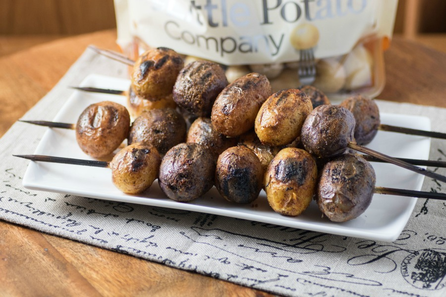 Mesquite Barbecue Skewered Potatoes