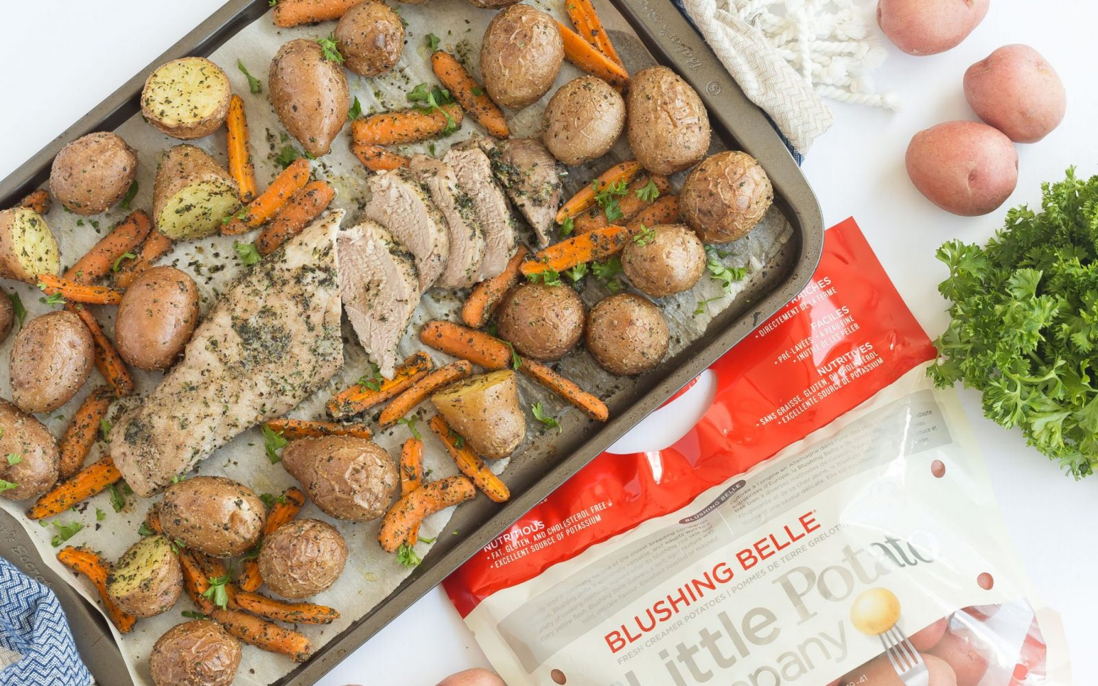 Pork Tenderloin and Vegetables Sheet Pan Dinner