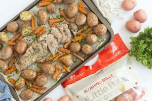 Pork Tenderloin Sheet Pan Dinner with Vegetables