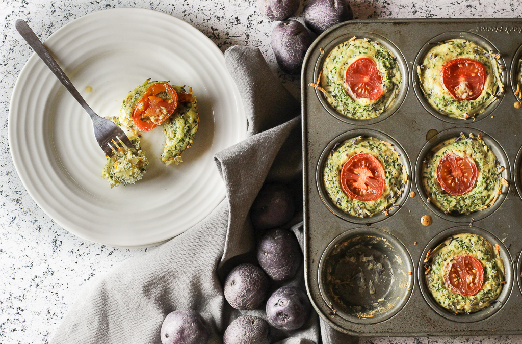 Latke-Crust Vegetable Mini-Quiches
