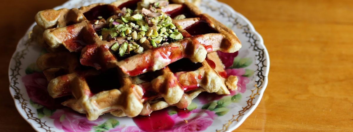 Potato Waffles and Pomegranate Molasses