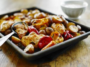 One-Pan Roasted Jerk Chicken and Potatoes - The Little Potato Company