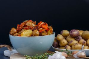 Roasted Bacon Thyme Potatoes