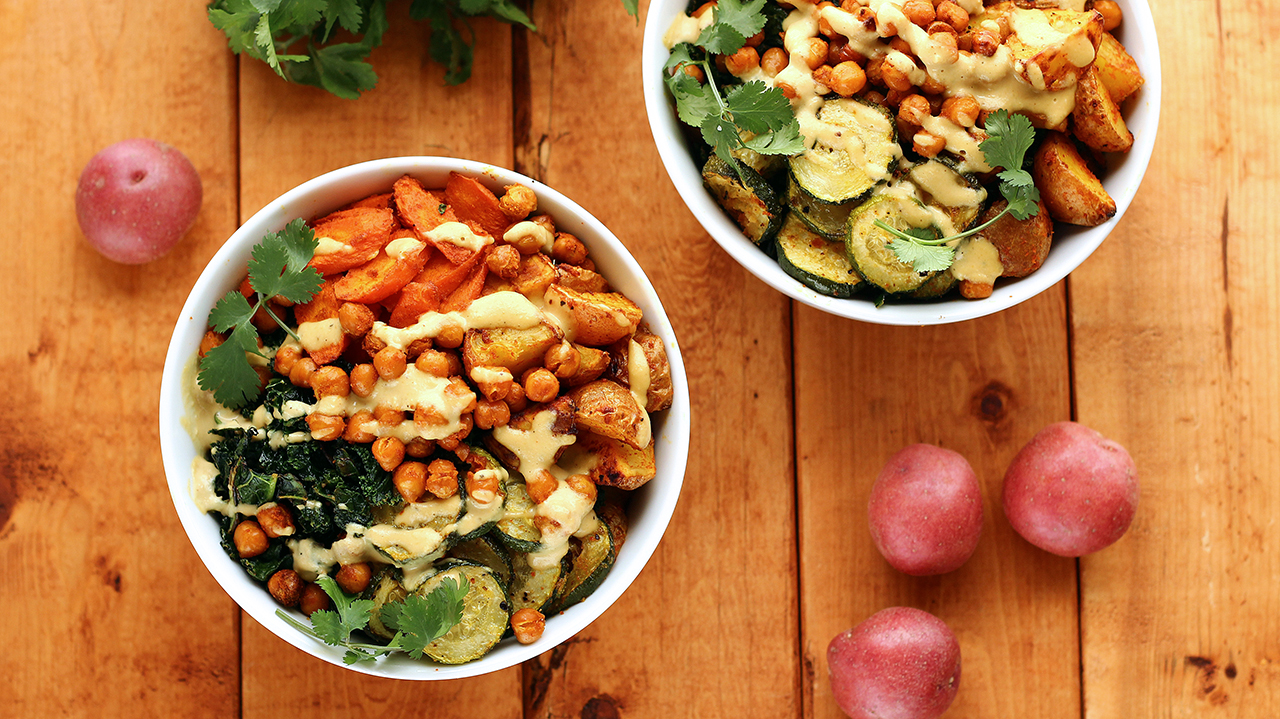 Roasted Potato and Veggie Power Bowl