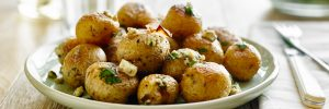 Roasted Potatoes and Onions with Blue Cheese - The Little Potato Company