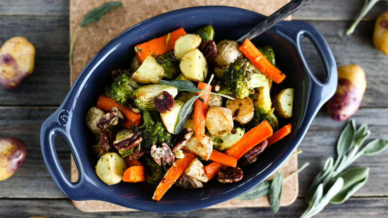 Sage & Garlic Roasted Vegetables with Little Potatoes