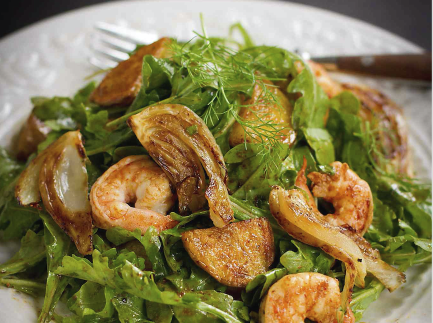 Roasted Potato Salad with Shrimp and Fennel
