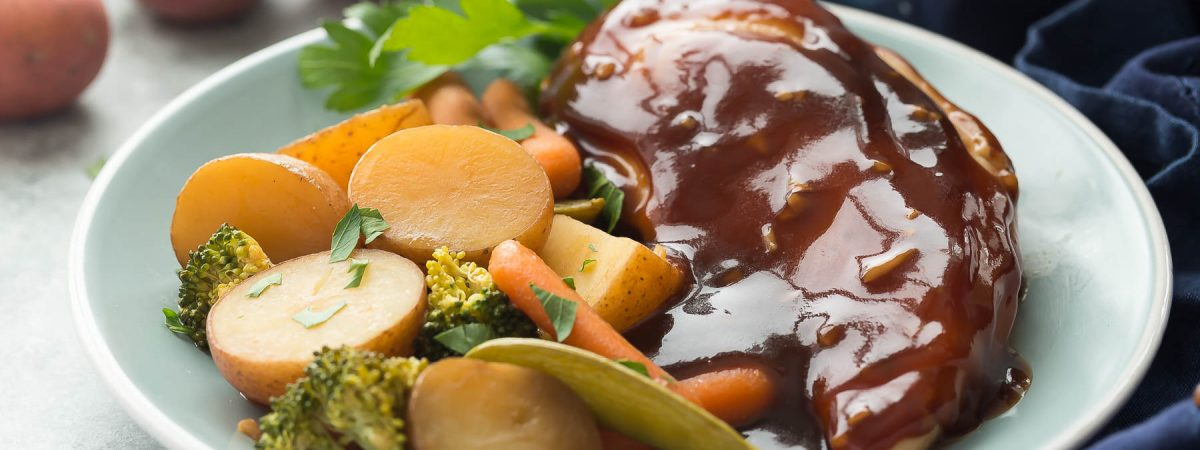 Slow Cooker Honey Garlic Chicken and Vegetables