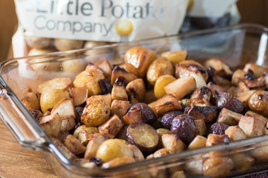 Slow Roasted Potatoes Turnips and Apples