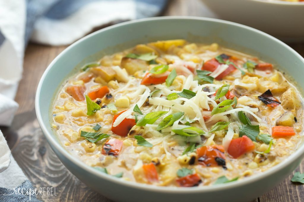 Smoky Southwestern Potato and Corn Chowder - The Little Potato Company