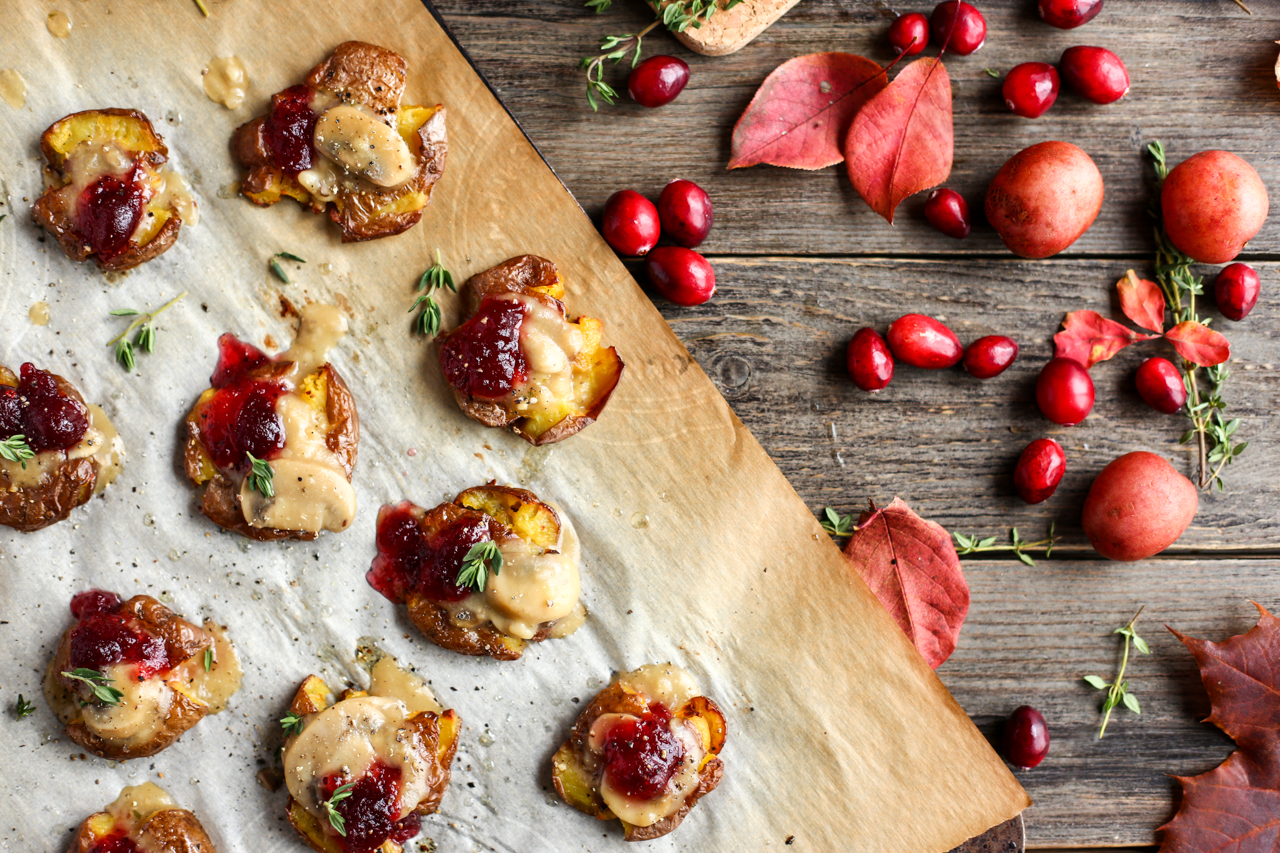 Vegan Thanksgiving-Style Smashed Potatoes - The Little Potato Company