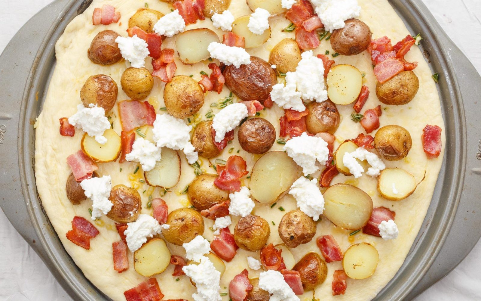 Thin Crust Bacon Potato Pizza