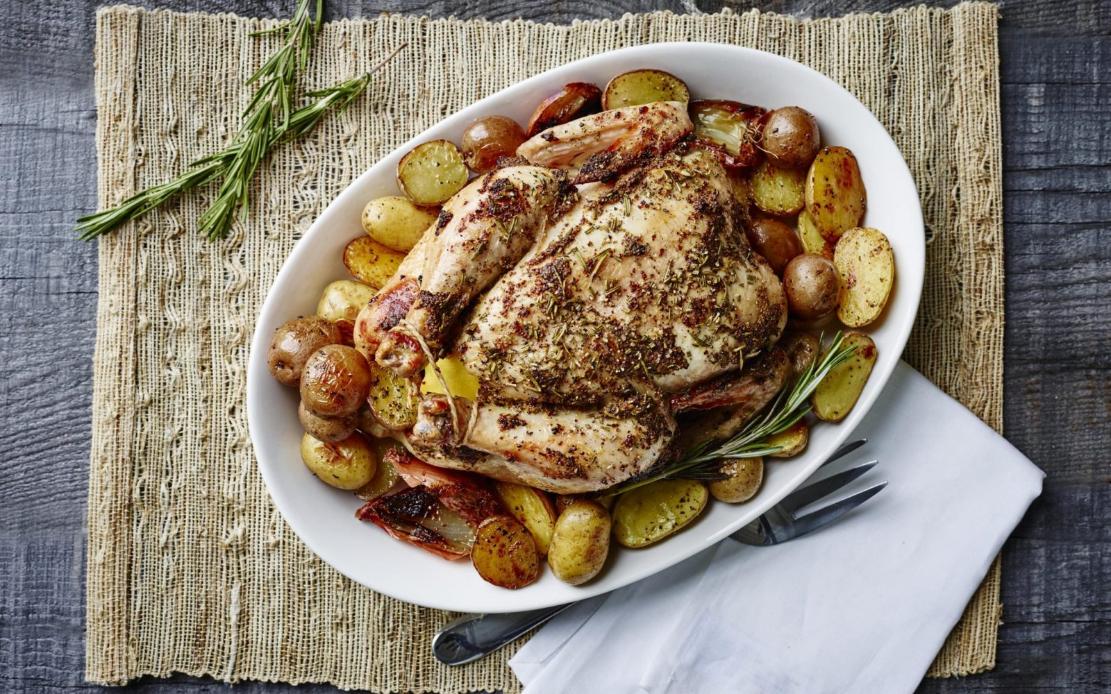 Weekend Roast Chicken and Potatoes