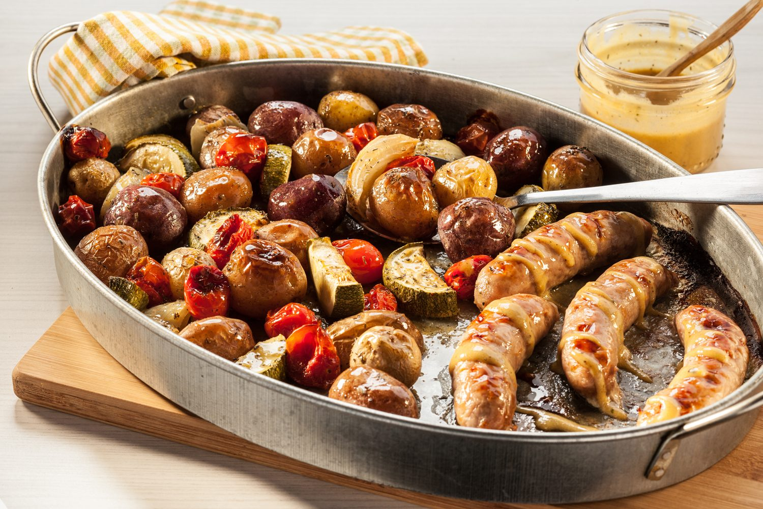 Little Potato Maple Glazed Sausage Sheet Pan Dinner