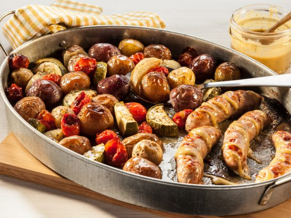 Weeknight Dinners: Little Potato Maple Glazed Sausage Sheet Pan Dinner - The Little Potato Company