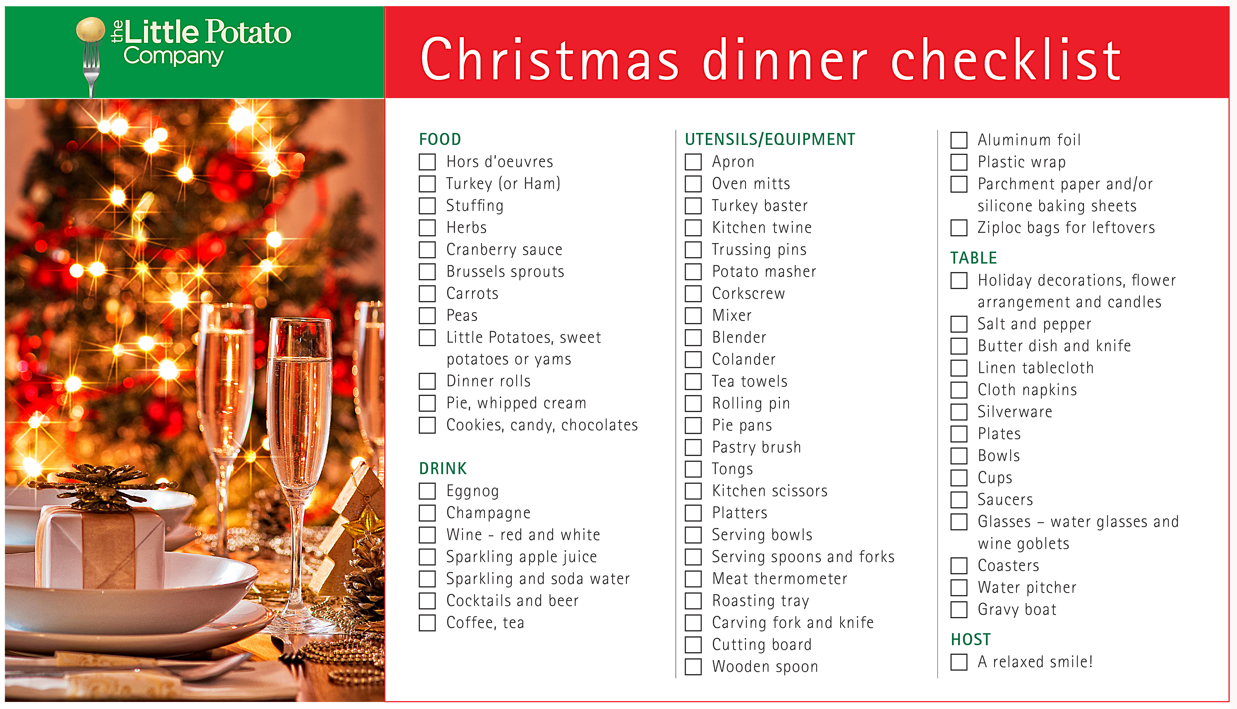 christmas dinner checklist don t forget the turkey or mashed potatoes