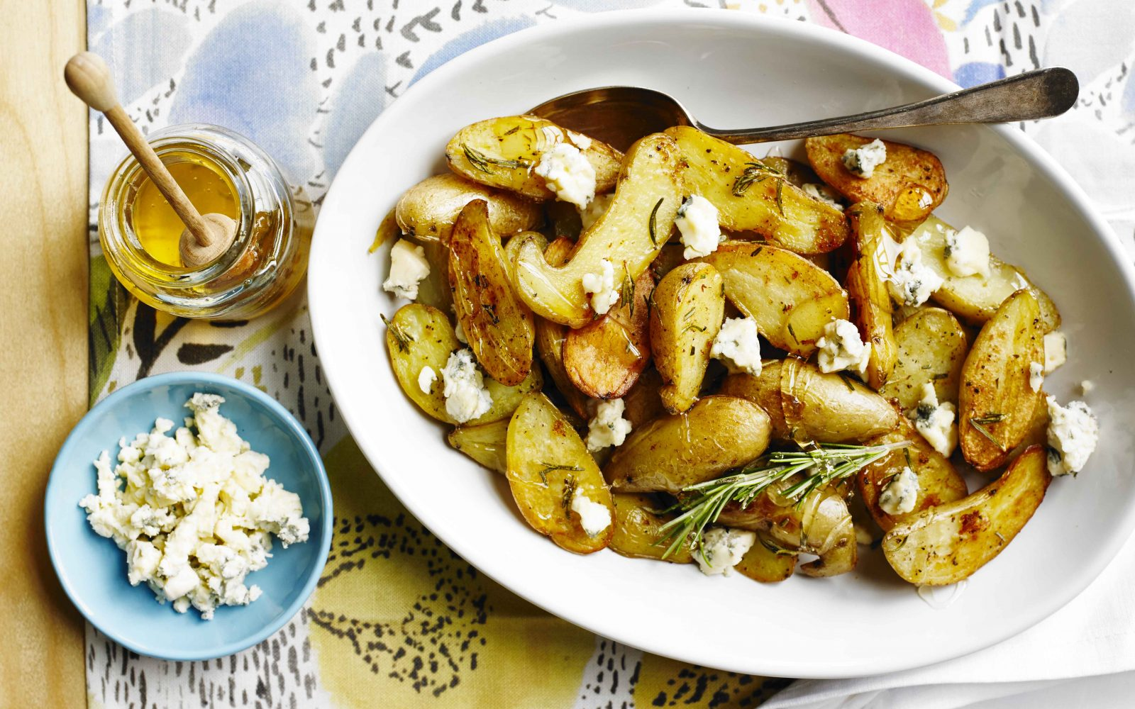 Gorgonzola and Honey Roasted Potatoes