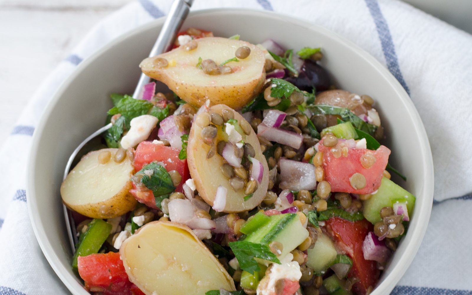 Greek Lentil and Potato Salad