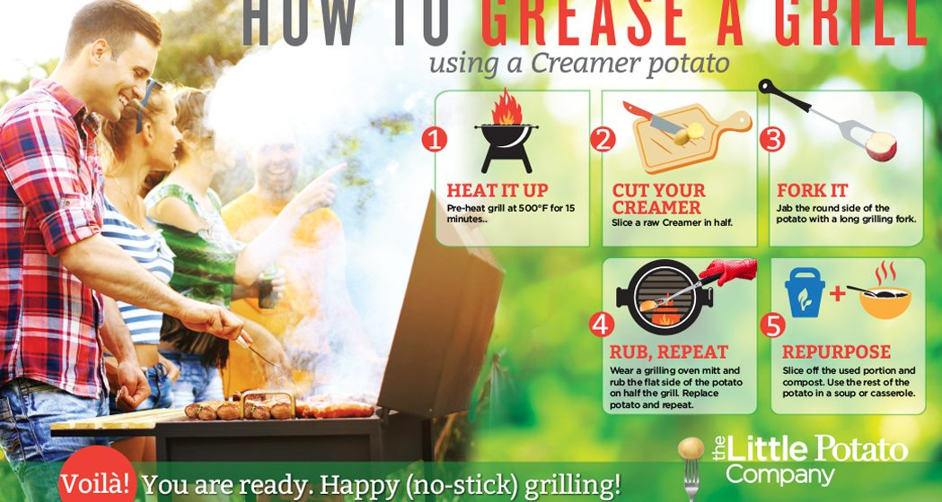 Secret to a no-stick grill (hint: potato!)