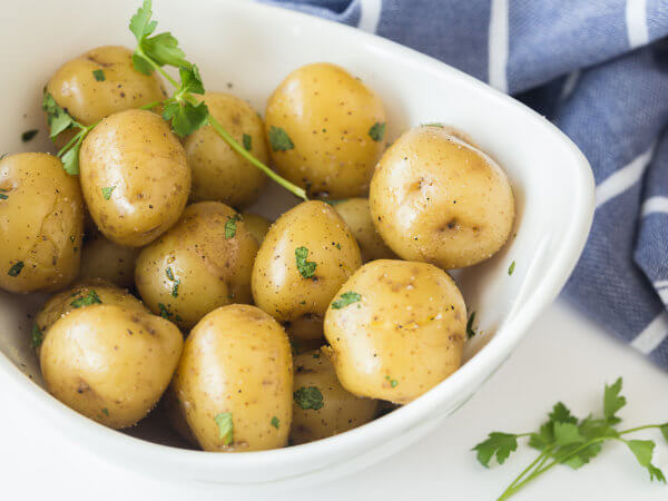 Boiled Potatoes Recipe with Creamer Potatoes