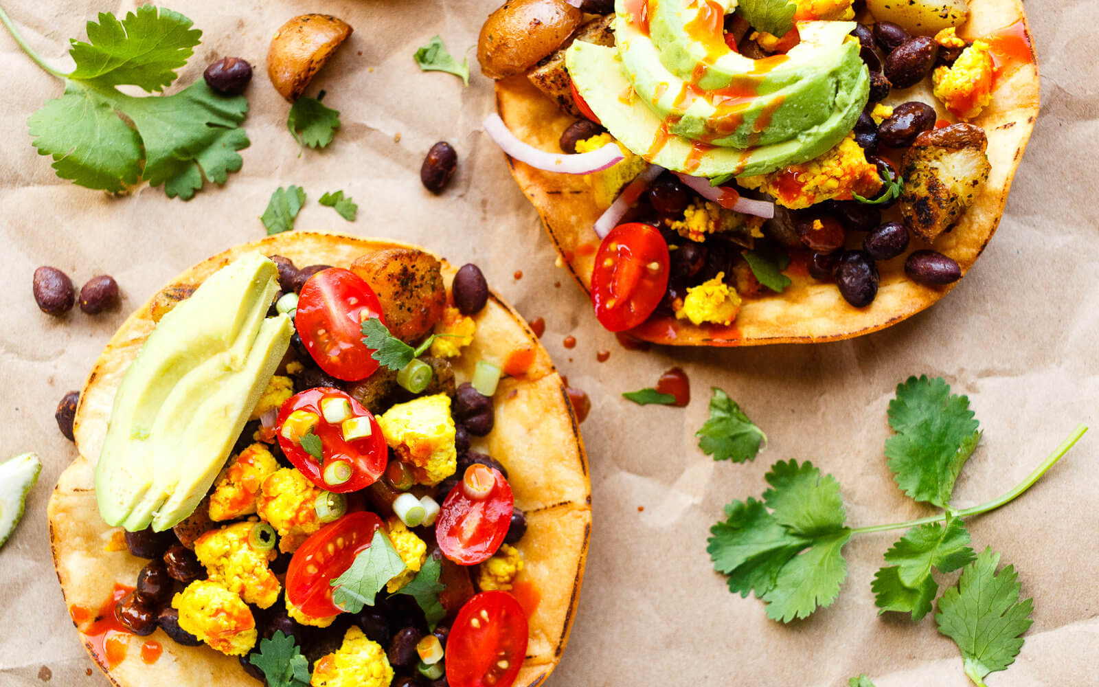 Vegan Breakfast Tostadas